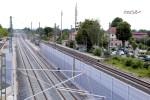 Baiersdorf 20.06.16: Blick von der Straßenbrücke ERH 5 in Richtung Süden