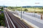 Baiersdorf 20.06.16: Blick von der Straßenbrücke ERH 5 in Richtung Norden