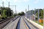 Erlangen 07.06.16: Blick von der Brücke Martinsbühler Straße in Richtung Norden