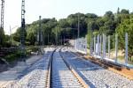 Erlangen 07.06.16: zu sehen ist die Weiche 915 im Süd-Nord-S-Bahn-Gleis, dahinter Weiche 916 im Wendegleis (mit Abzweig zur Weiche 914)