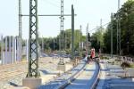 Erlangen 07.06.16: Blick aus dem S-Bahn-Wendegleis in Richtung Süden