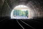 Erlangen 07.06.16: Blick aus der Tunnelmitte in Richtung Süden