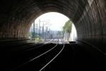 Erlangen 07.06.16: Blick aus der Tunnelmitte in Richtung Norden