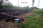 Buttenheim 29.06.16: Signalfundament für Vorsignal 24V27 (südl. Einfahrvorsignal Buttenheim)