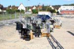 Bubenreuth 05.07.16: Neu angelieferte Signale für Erlangen (nördliche Einfahrt) und Bubenreuth (Blocksignale)