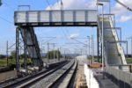Bubenreuth 05.07.16: Hilfsbrücke als Bahnsteigzugang; Behelfsbahnsteige