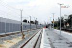 Eltersdorf 26.07.16: Die Nord-Süd-Richtungsgleise, links das Ferngleis; Blickrichtung Norden