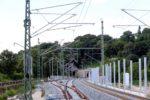 Erlangen 05.07.16: Weiche 915  (Vordergrund) und 916 in das Wendegleis (Gleis 93)
