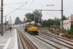 Bruck 26.07.16:  Auch das Gleis in Richtung Frauenaurach ist wieder angeschlossen, erstaunlicherweise mit wiederverwendeten Stahlschwellen