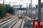 Bruck 26.07.16:  Blick vom Mittelbahnsteig in Richtung Norden: Das Nord-Süd-Ferngleis ist fertig verlegt