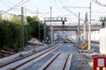 Bruck 30.07.16: Streckengleis Nord-Süd: Hier fehlt noch der Lückenschluss