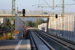 Baiersdorf 14.08.16: Die Neubaugleise 559 und 501 mit den neuen Blocksignalen 559 und 501