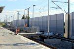 Eltersdorf 13.08.16: Letzter Schliff am neuen Behelfsbahnsteig in Richtung Nürnberg