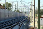 Eltersdorf 13.08.16: Die westlichen Neubaugleise  aus Richtung Norden
