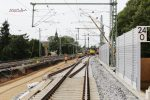 Erlangen 11.08.16: links der Unterbau für Gleis 2 in Arbeit, in der Mitte Weiche 908