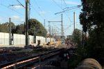 Erlangen 13.08.16: Blick vom Altstädter Friedhof in den Bahnhof