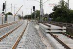 Erlangen 11.08.16: Links das nördliche Einfahrsignal 27 FF, rechts das Ausfahrvorsignal