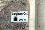 """Erlangen 11.08.16: Die neue Röhre durch den Burgberg heißt """"Burgberg Ost."""""""