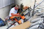 Erlangen 11.08.16: Kabelspleißen nördlich des Burgbergtunnels