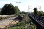 Baiersdorf 29.09.16: Blick vom ehemaligen BÜ bei km 32,4 in Richtung Süden
