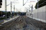 Bubenreuth 22.09.16: Ein bereits neu trassierter Abschnitt der Westgleise
