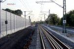 Bubenreuth 22.09.16: Ausgebautes Gleis Nürnberg - Bamberg bei km 26,5