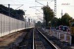 Bubenreuth 22.09.16: Ausgebautes Gleis Nürnberg - Bamberg bei km 26,8