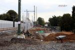 Erlangen 22.09.16:  Lärmschutz im Aufbau zwischen Gleis 2 und 3