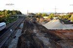 Forchheim 29.09.16: Blick von der Brücke  Bayreuther Straße in Richtung Norden