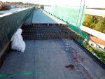 Betonierung der nordöstlichen Brückenkappe
