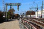 Erlangen 31.10.16: Trasse Gleis 4; Der Unterbau ist bis zum Ausfahrsignal 27N4 eingebaut