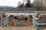 Baiersdorf 27.11.16:  Neubau der Osthälfte der Eisenbahnbrücke über den Kreuzbach
