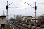 Baiersdorf 27.11.16:  Die ehemaligen nördlichen Einfahrsignale 5F und 5FF von Baiersdorf: heute decken sie als Signale 502 und 552 die Abzweigstelle
