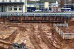 Forchheim 27.11.16: Baugrubensicherung mit Spundwänden im Bereich der neuen Fußgängerunterführung