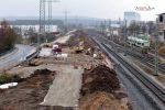 Forchheim 27.11.16: Blick vom Fußgängersteg in Richtung Süden