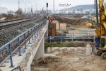Forchheim 27.11.16: Brücke über die Trubbach; die Fundamente für die Widerlager sind im Entstehen