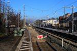 Erlangen 3.12.16: Blick vom nördlichen Bahnsteigende Gleis 4 in Richtung Norden