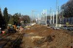 Erlangen 3.12.16: Abgetragener Bahndamm Gleis 3 und 4 nördlich km 24,0