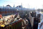 Erlangen 3.12.16: Schalung südliches Widerlager Brücke Martinsbühler Straße