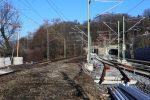 Erlangen 3.12.16: Entferntes ehemaliges Süd-Nord-Streckengleis mit künftigem Abzweig ins Wendegleis